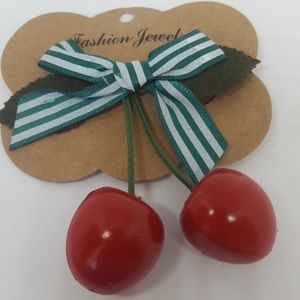 Rockabilly Cherry hair clip
